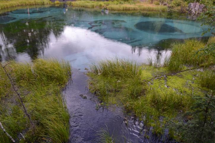 Γαλάζια λίμνη - Ακτάς